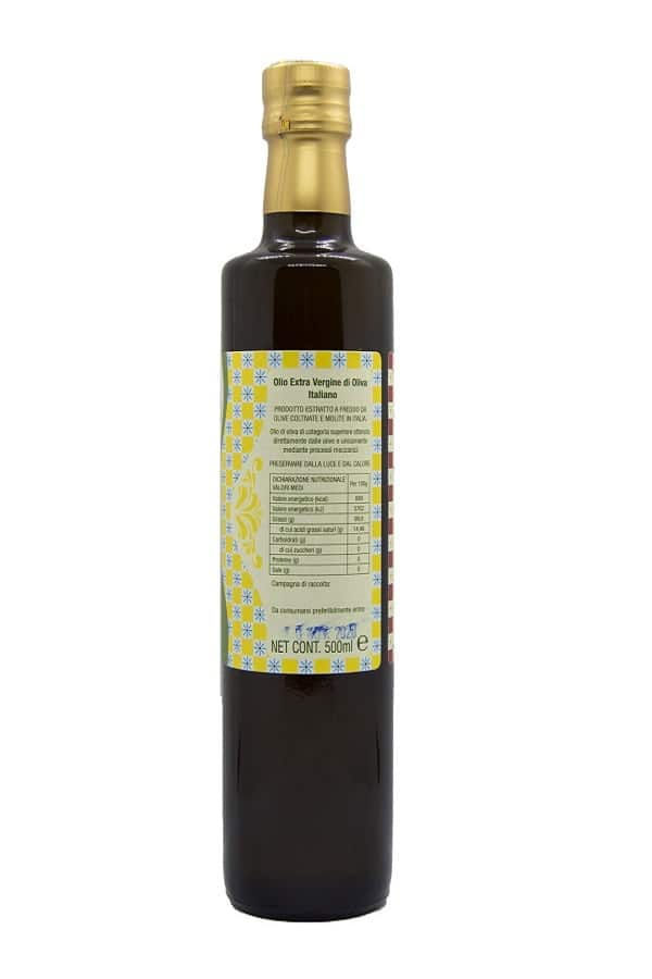 bottiglia 500 ml olio left